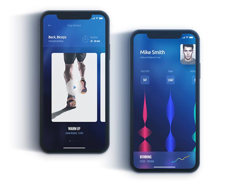 iPhone X Running App